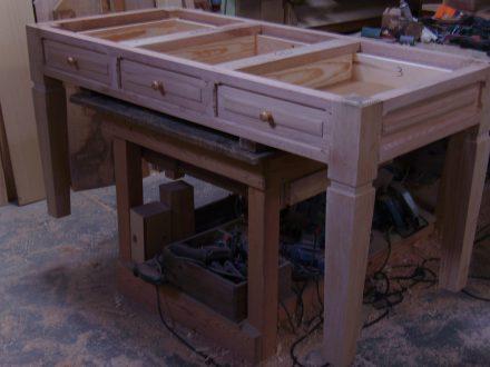 Mesas carpinter a hern ndez la encina salamanca - Mesa escritorio clasica ...