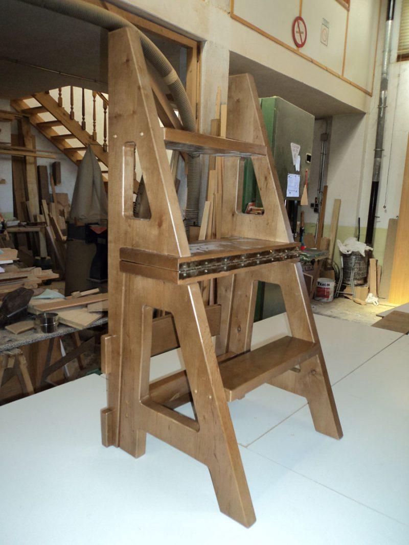 Silla escalera carpinter a hern ndez la encina salamanca for Silla convertible en escalera